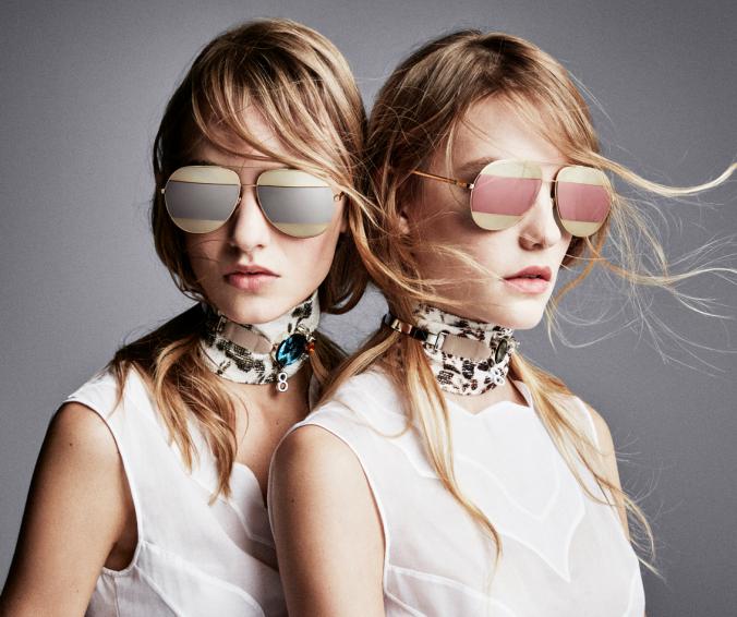 E já virou um IT – um óculo desejo – é o novo Dior Split. Ele tem um  formato aviador tipo o do Ray-ban, porém é bem grande, espelhado e com uma  faixa em ... 1106811e0a